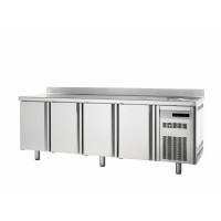 Table réfrigérée adossée Premium 4/0 avec évier