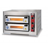Pizzaofen Classic Eco 4+4 (250 mm) 3 Thermostate | Kochtechnik/Pizzaöfen/Doppelkammer-Pizzaöfen