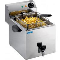 Elektro-Fritteuse Profi 8 Liter mit Ablasshahn