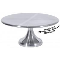 Plat à gâteau rotatif, diamètre 30cm, hauteur 13,5cm