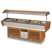 Bar à salade, 2 200 x 900 x 850/1 350 mm, GN 6/1