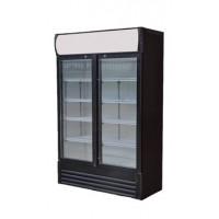 Getränkekühlschrank ECO 630 mit Leuchtaufsatz und Klapptüren