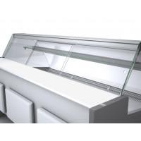 Plexi-Schiebetür Profi100 rundes Frontglas