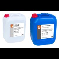 Liquide de rinçage 10 litres & liquide de lavage pour lave-vaisselle avec chlore 12 kg