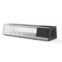 Vitrine à sushi PROFI 6x1/3GN - verre angulaire