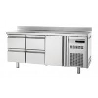 Tiefkühltisch Premium 1/4 mit Aufkantung | Kühltechnik/Kühltische/Tiefkühltische