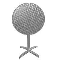 Table pliante ronde en inox Bolero, 1 pied, diamètre 60 cm