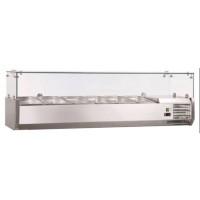 Présentoir réfrigéré ECO6x GN1/4 avec vitre