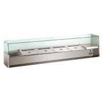 Présentoir réfrigéré ECO 9x GN 1/4 avec vitre 1 800 mm R600a